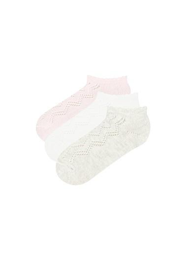 Penti Çok Renkli Kız Çocuk Softy 3Lü Patik Çorap Renkli